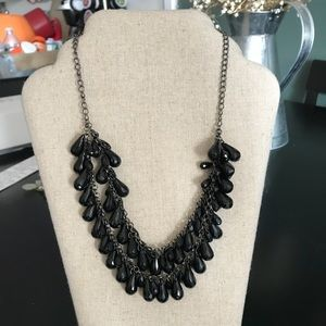 Jewelry - Black beaded statement necklace
